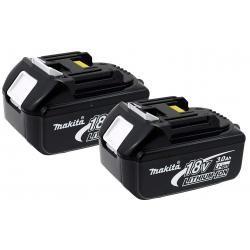 2 x aku baterie pro nářadí Makita Typ BL1830 3000mAh originál (2ks Set)