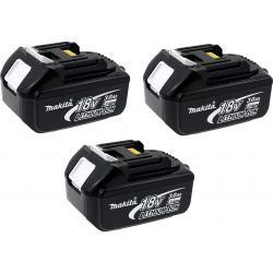 3 x aku baterie pro nářadí Makita Typ BL1830 3000mAh originál (3ks Set)