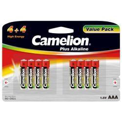 baterie Camelion MN2400 HR03 Plus alkalická (4+4) 8ks balení originál
