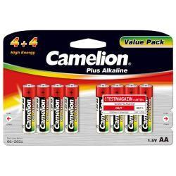 baterie Camelion tužková LR6 AA Plus alkalická (4+4) 8ks balení originál