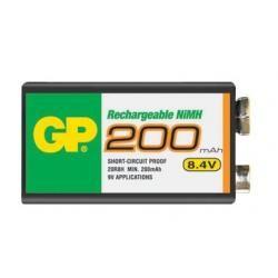 baterie GP 9V 200mAh NiMh