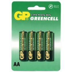 baterie GP AA tužková GreenCell 15G R6 4ks blistr