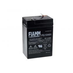 FIAMM náhradní baterie pro solární systémy, nouzové osvětlení, zabezpečovací systémy 6V 4 5Ah originál