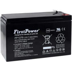 FirstPower náhradní aku baterie pro UPS APC Back-UPS CS 350 7Ah 12V originál
