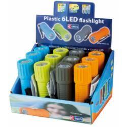 LED svítilna 6 LED diod vč.3xAAA