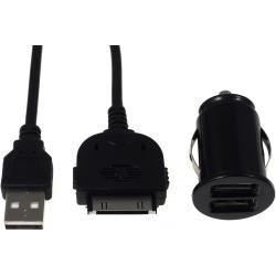 Mini auto-Ladeadapter vč. 30Pin Sync- & kabel pro iPod touch 3.-4. generace