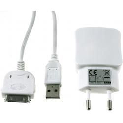 Multi-Ladeadapter 2x USB 2,1A+30Pin USB Sync-& kabel pro iPod touch 3.-4. Gen.