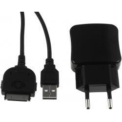 nabíjecí adaptér s 2x USB 2,1A vč. 30Pin USB Sync-& kabel pro iPod 3./4. Gen.