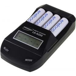 Powery nabíječka pro NiCd / NiMH- AA/AAA aku vč. 4x AA 1900mAh Panasonic eneloop