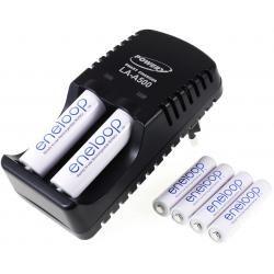 Powery nabíječka pro NiMH/NiCd AA-AAA aku vč. 2x AA 1900mAh + 4x AAA 750mAh Panasonic eneloop