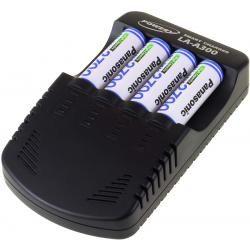 Powery nabíječka pro NiMH /NiMH/ 9V-Block-aku vč. 4x AA 2700mAh Panasonic