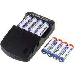 Powery nabíječka pro NiMH /NiMH/ 9V-Block-aku vč. 8x AA 2700mAh Panasonic