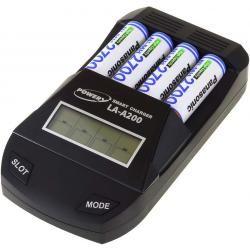 Powery nabíječka pro NiMH / NiMH- AA/AAA aku vč. 4x AA 2700mAh Panasonic