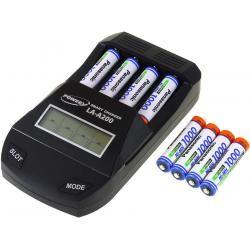 Powery nabíječka pro NiMH / NiMH- AA/AAA aku vč. 8x AAA 930mAh Panasonic