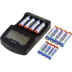 Powery nabíječka pro NiMH/NiMH- Li-Ion aku vč. 8xAA 2700mAh + 4xAAA 930mAh Panasonic