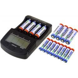 Powery nabíječka pro NiMH/NiMH- Li-Ion aku vč. 8xAA 2700mAh + 8xAAA 930mAh Panasonic