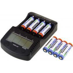 Powery nabíječka pro NiMH/NiMH- Li-Ion aku vč. 8xAA 2700mAh Panasonic