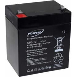 Powery náhradní baterie pro APC Back-UPS ES350 5Ah 12V originál