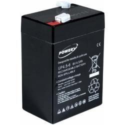Powery náhradní baterie pro invalidní vozíky / skútr / elektro autíčka 6V 4,5Ah (nahrazuje také 4Ah 5Ah)