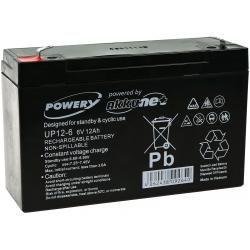 Powery náhradní baterie pro solární systémy, výtahy 6V 12Ah (nahrazuje také 10Ah)