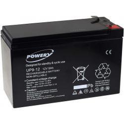 Powery náhradní aku baterie pro UPS APC Back-UPS CS 350 9Ah 12V originál