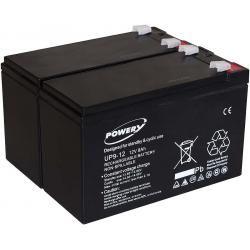 Powery náhradní baterie pro UPS APC Smart-UPS SC 1000 - 2U Rackmount/Tower 9Ah 12V originál