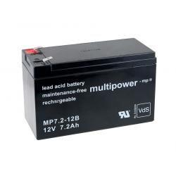 Powery olověná baterie (multipower) MP7,2-12B VdS kompatibilní s YUASA Typ NP7-12L