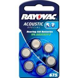 Rayovac Extra Advanced baterie pro naslouchátko Typ 675AE 6ks balení originál