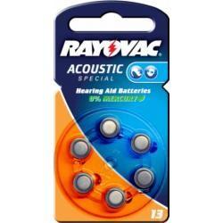 Rayovac Extra Advanced baterie pro naslouchátko Typ V13AT 6ks balení originál