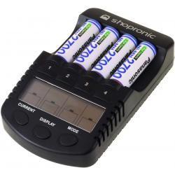 shopronic nabíječka pro NiMH/NiMH AA-AAA aku vč.4x AA 2700mAh Panasonic aku