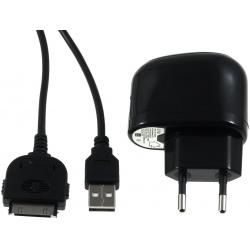 USB Ladeadapter 2,1A vč. 30Pin Sync- & kabel pro iPod touch 3.-4. generace