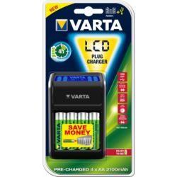 Varta nabíječka pro AA/AAA/9V aku und USB Geräte vč. 4x Varta AA-aku 2100mAh originál
