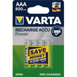 Varta Power aku Ready2Use TOYS Micro AAA 4ks balení originál