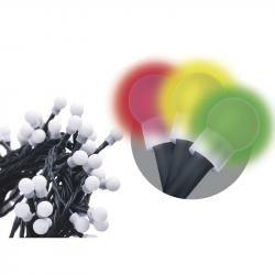 80 LED dekor. osvětlení - kulička 8M multicolor, časovač