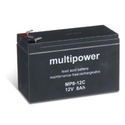 baterie pro čistící stroje, nouzové napájení (UPS) 12V 8Ah (hluboký cyklus)