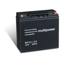 baterie pro nouzové napájení (UPS) 12V 22Ah (nahrazuje také 17Ah, 18Ah, 19Ah) hluboký cyklus
