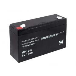 baterie pro solární systémy, nouzové osvětlení, zabezpečovací systémy 6V 12Ah