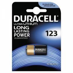 Foto baterie Duracell Ultra M3 CR123 1ks balení originál