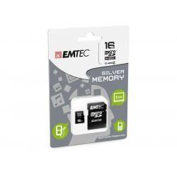 Paměťová karta EMTEC microSDHC 16GB blistr Class 4
