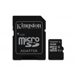 paměťová karta Kingston microSDHC 16GB blistr Class 10