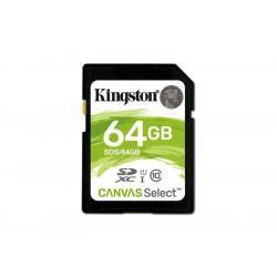 paměťová karta Kingston SDXC 64GB blistr UHS-I U1 Class 10
