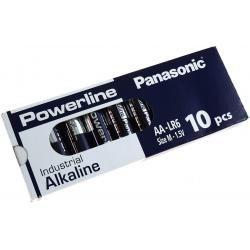 Panasonic Powerline Industrial alkalická AA LR6AD LR6 M 1,5V 10ks balení originál