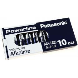 Panasonic Powerline Industrial alkalická AAA LR03AD LR03 1,5V 10ks balení originál