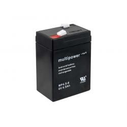 Powery olověná baterie (multipower) MP4.5-6 6V Lead-Acid pro Hobby Camping Kinderfahrzeug Peg Perego