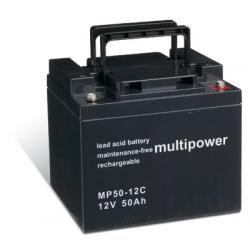 Powery olověná baterie (multipower) MP50-12C zyklenfest