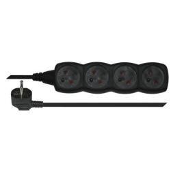 prodlužovací kabel 4 zásuvky 5m - černý