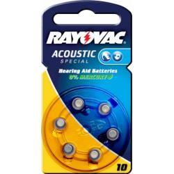 Rayovac Acoustic Special baterie pro naslouchátko Typ 10 / AE10 / DA10 / PR230 / PR536 / V10AT 6ks balení originál