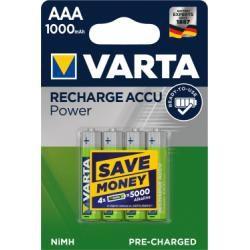 Varta Accu Rechargeable aku Micro AAA NiMH 4ks balení 1000mAh originál