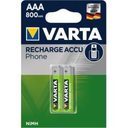 Varta Phone Power T398 Micro AAA 800mAh 2ks balení originál