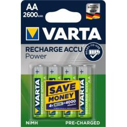 Varta Power aku Ready2Use HR6 Migon AA 4ks balení 2600mAh originál